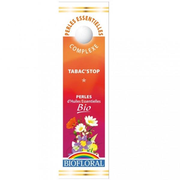 BIOFLORAL Huile Essentielles perles BIO Tabac\'Stop Aromathérapie diminue la dépendance 300 Perles flacon 20 ML