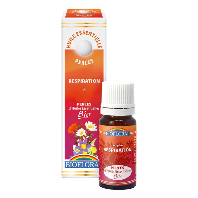 BIOFLORAL Huile essentielle Perles BIO Respiration Aromathérapie 300 Perles Flacon 20 ML