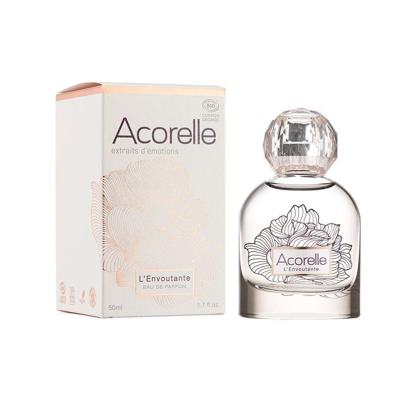 Eau de parfum 100% naturelle aux notes suaves, myrrhe, de vanille vert et jasmin Bio Acorelle 50ML