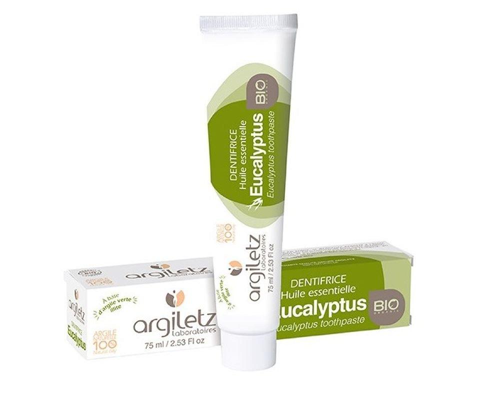 Argiletz Dentifrice huile essentielle Eucalyptus Bio 75ml