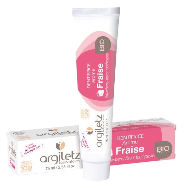 Dentifrice pour enfant arôme Fraise Bio 75ml