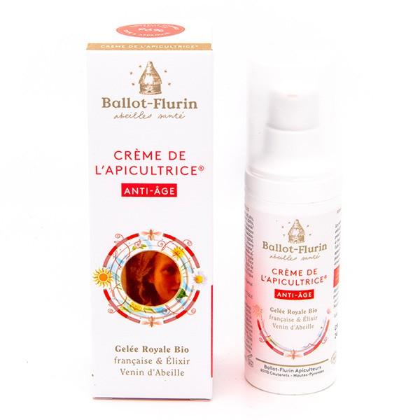 BALLOT-FLURIN BIO Créme de l\'Apicultrice ANTI-AGE Gelée Royale Elixir Venin d\'abeille Flacon pompe 30 ML