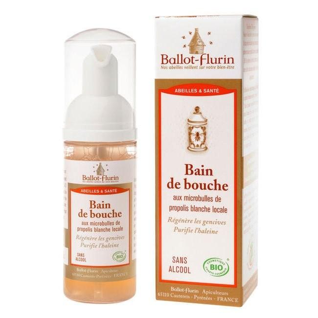 BALLOT-FLURIN BIO Bain de bouche Propolis blanche Régénère les gencives purifie l\'haleine Flacon 50 ML