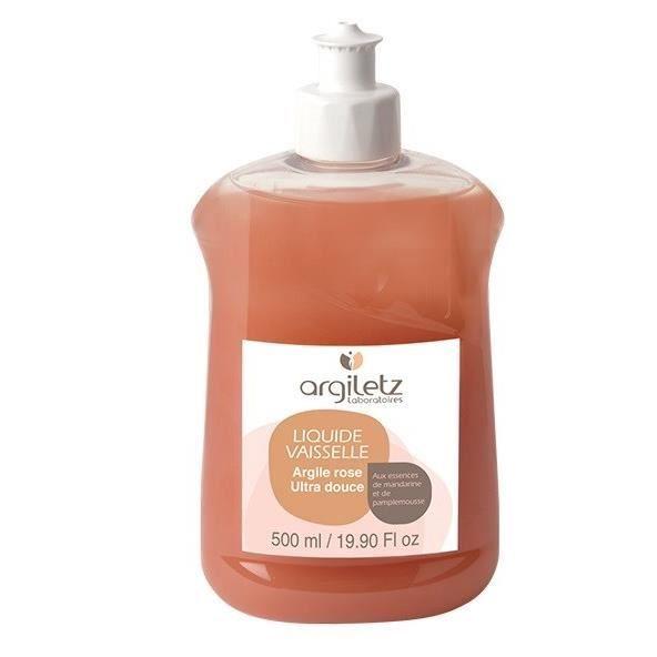 ARGILETZ Liquide vaisselle mandarine / pamplemousse à l\'argile rose - 500 ml