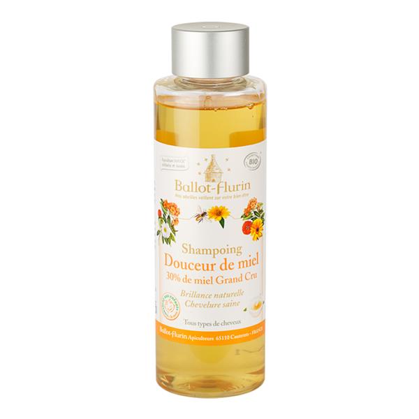 BALLOT-FLURIN BIO Shampooing Douceur de miel 30% Tous types de cheveux Flacon 250 ML