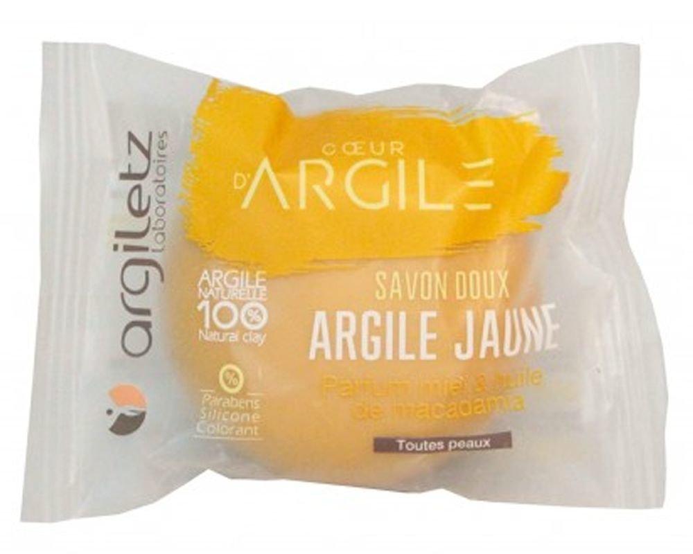 ARGILETZ Savon Bio argile jaune parfum miel tout type de peaux - 100 g