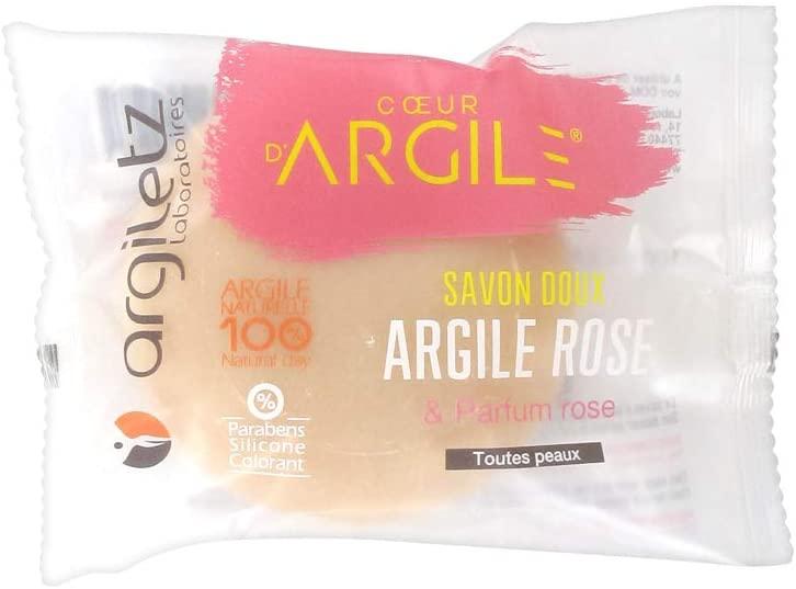 ARGILETZ Savon Apaisant argile rose parfum Rose - 100 g
