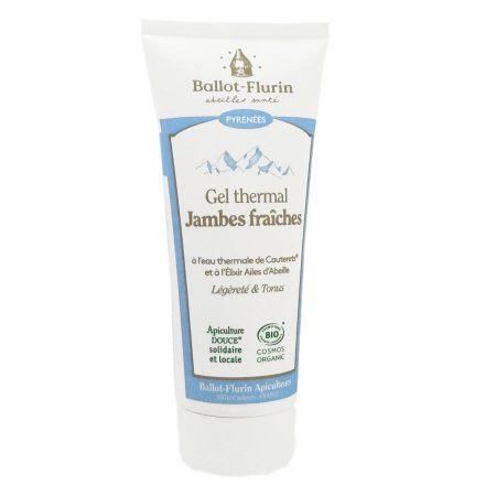 BALLOT-FLURIN BIO Gel thermal jambes fraîches Eau thermale Cauterets Elixir Ailes d\'Abeille tube 100ML