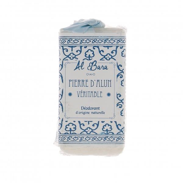 AL BARA Pierre D\'ALUN Véritable Déodorant d\'origine naturelle sans parfum Poids 120 G