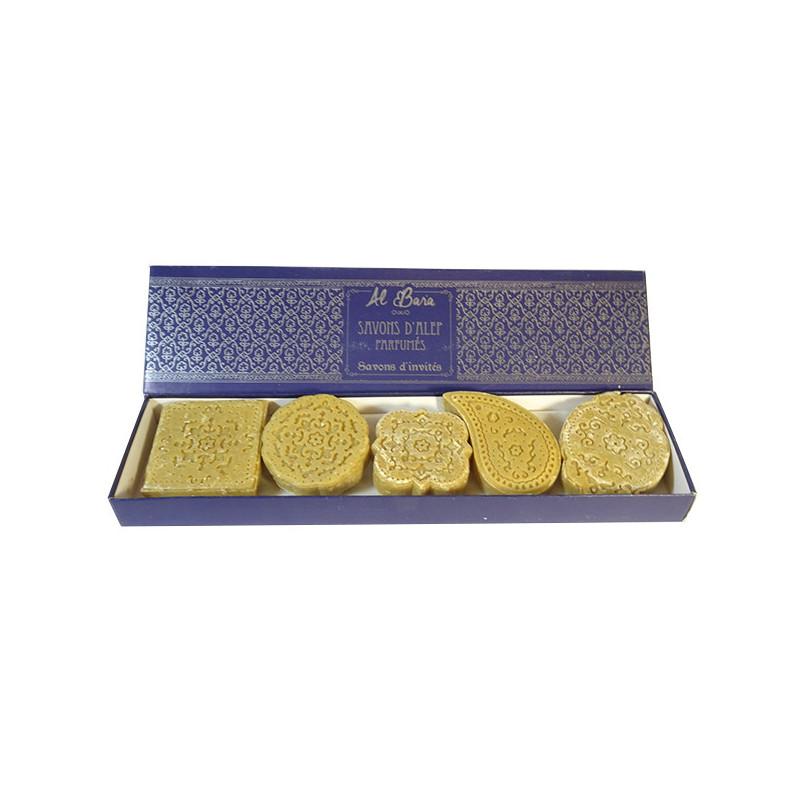 AL BARA Coffret Prestige 5 petits savons d\'Alep parfumés - 5 x 20 g