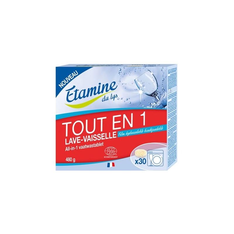 ETAMINE DU LYS Tablettes tout en 1 lave-vaisselle - 30 unités