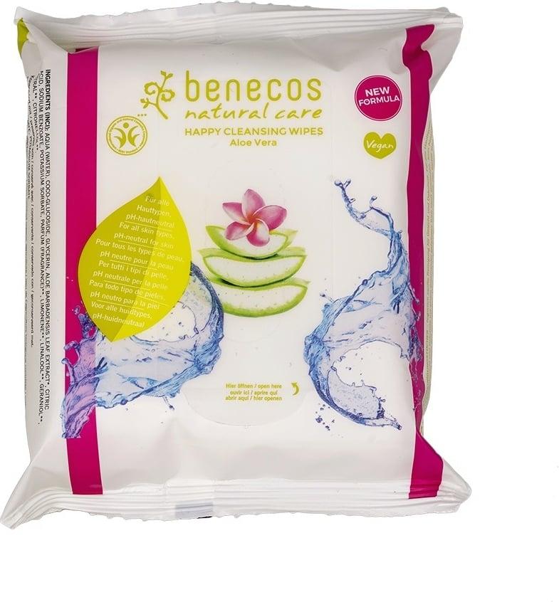 BENECOS Lingettes nettoyantes visage - 25 lingettes biodégradables