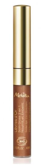 MELVITA L\'Or Bio, Gloss lèvres d\'or BIO - tube 4 ml