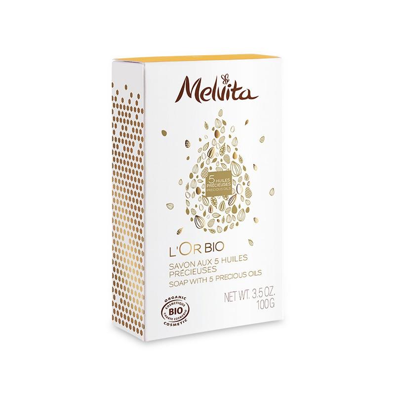MELVITA Savon aux 5 huiles précieuses BIO - 100 g