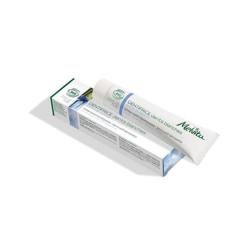 MELVITA Dentifrice dents blanches  BIO - tube 75 ml