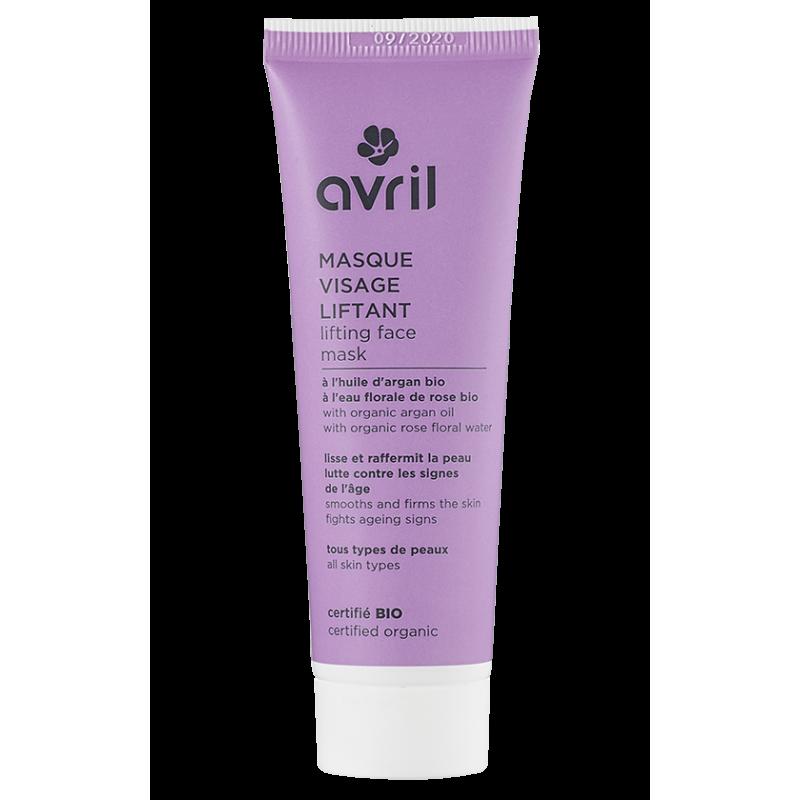 AVRIL BIO Masque visage liftant BIO Huile d\'Argan et eau florale de Rose - tube 50 ml
