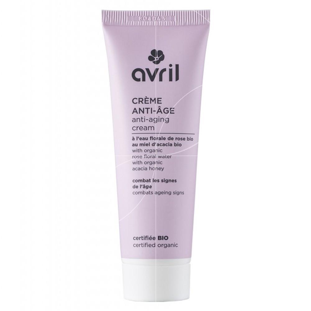 AVRIL Crème anti-âge BIO  Eau florale  de Rose et Miel d\'Acacia - tube 50 ml