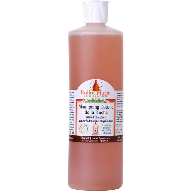 BALLOT-flurin  Shampoing Douche de la Ruche assainissant et doux BIO - 500 ml