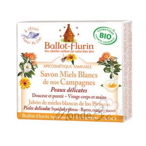 BALLOT-FLURIN Savon Miels Blancs de nos campagnes Bio - 100 g