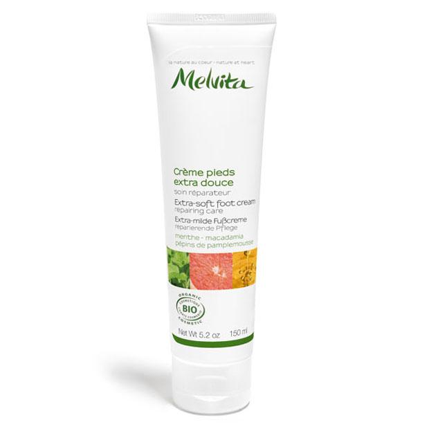 MELVITA Crème pour les pieds extra douce BIO - tube 150 ml