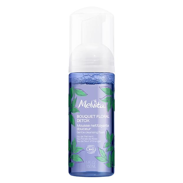 Melvita Mousse nettoyante légère BIO, Bouquet floral - 150 ml