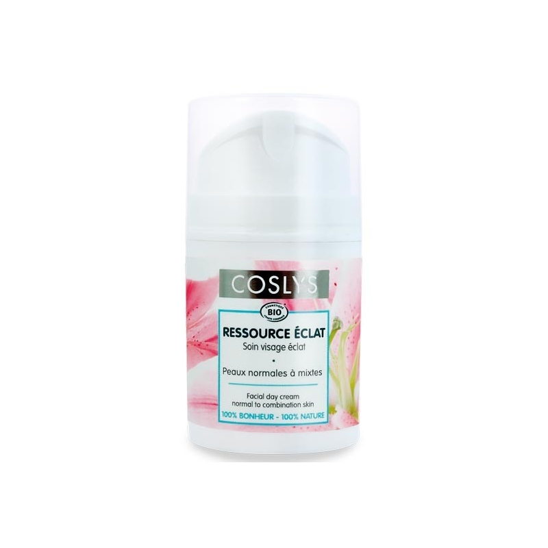 COSLYS Soin de jour Ressource éclat peaux normales à mixtes BIO 50 ml