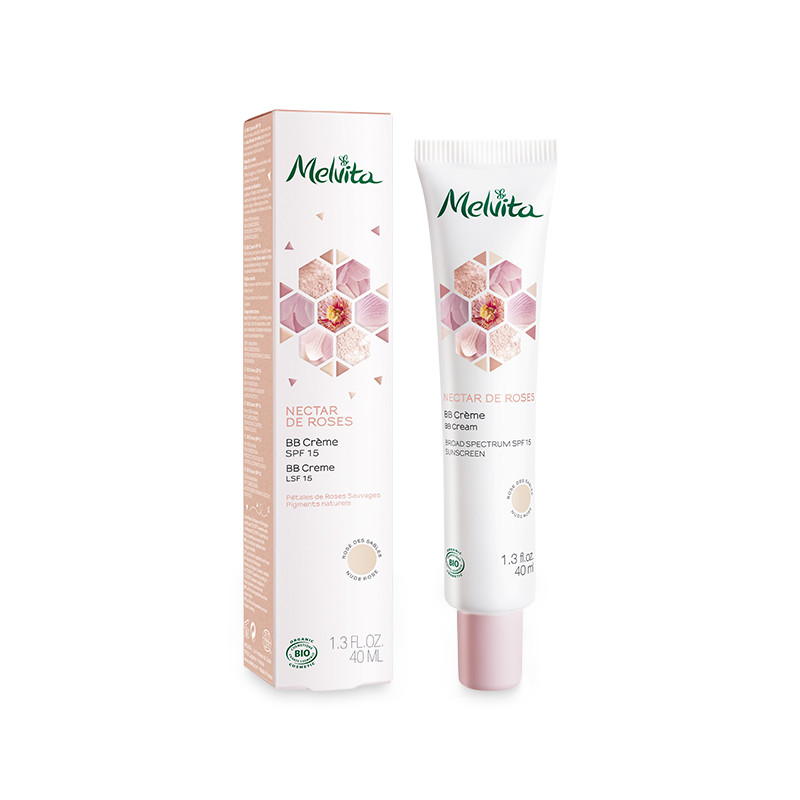 MELVITA BB Cream SPF 15, Nectar de roses BIO - tube 40 ml