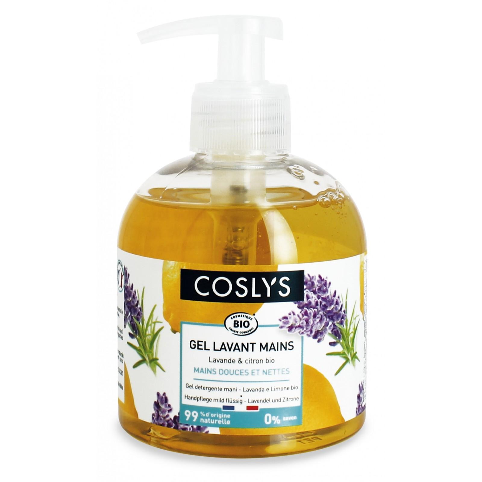 COSLYS Gel lavant mains lavande, citron BIO - 300 ml