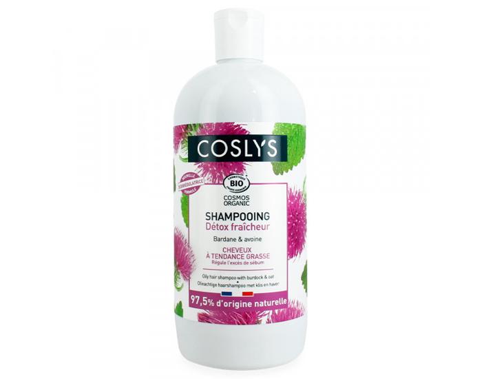 COSLYS Shampoing cheveux à tendance grasse BIO - 500 ml