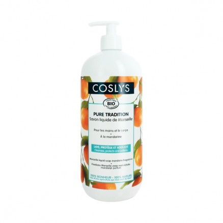 COSLYS Savon liquide de marseille mandarine BIO - 1 litre