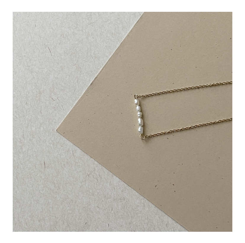 Collier perles douces