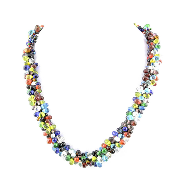 collier perle multicolore