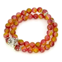 Bracelet water melon bicolore multitour