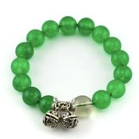 Bracelet agate perles vertes
