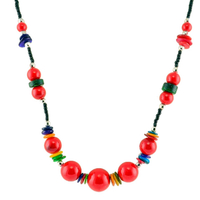 Collier ethnique rouge himalayen