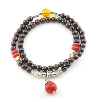 Bracelet grenat double tour