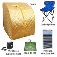 Sauna-infrarouges-FIR-portable-XL-Deluxe-ventilateur-céramique-1500W-doré-SAU-15-or-2
