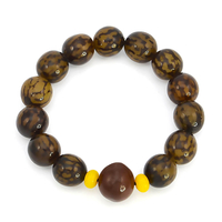 Bracelet graines de bodhi 13mm marron