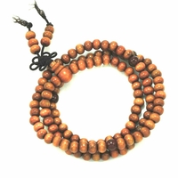 Bracelet perle cerisier 6mm 108 grains - Lyet - Orange - TerreZen