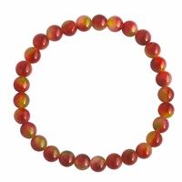 Bracelet perle pierre Tourmaline Cristal de pastèque 6mm - Shira - Vert Rose - TerreZen