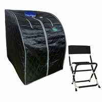 Sauna portable infrarouge FIR-IRL tourmaline XL Royal 1000W noir