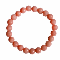 Bracelet calcédoine rose 8mm Béa