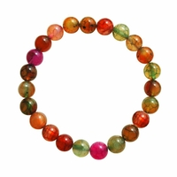 Bracelet tourmaline multicolore 8mm Ethel
