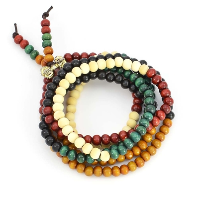 Bracelet graine de palmier 6mm 216 5 couleurs