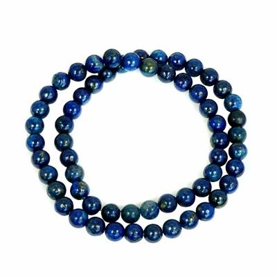 Bracelet lapis lazuli bleu multirang 6mm Odie
