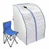 Sauna infrarouges FIR portable XL Deluxe 1000 W argent