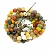 Bracelet mala bois 108 4-5 rangs 8mm multicolore Tika