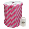 Sauna vapeur portable gonflable - Najia - rose/gris - 900W