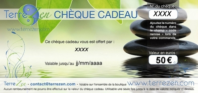 cheque cadeau exemple 50