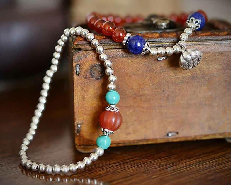 Bracelet-onyx-lapis-lazuli-agate-argent-925-duo-multirangs-2-pierre-gemme-Rouge-Bleu-Hitta-mes-bijoux-bracelets-com-B0483-5